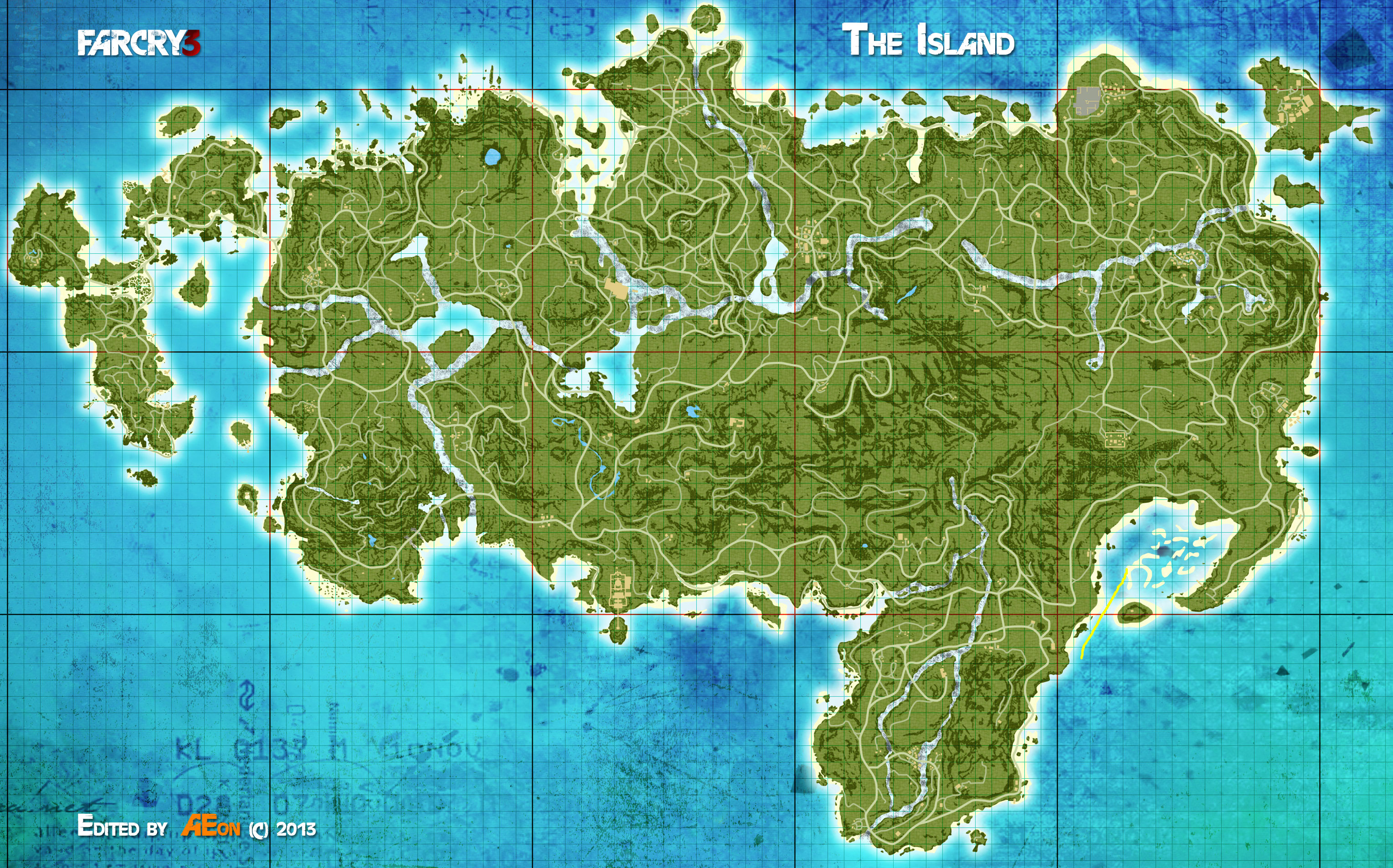 Mapa Rook Island Far Cry 3